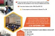 Concours d'accès aux écoles supérieures 2018/2019