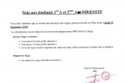 Remise dossiers stage -DIB-